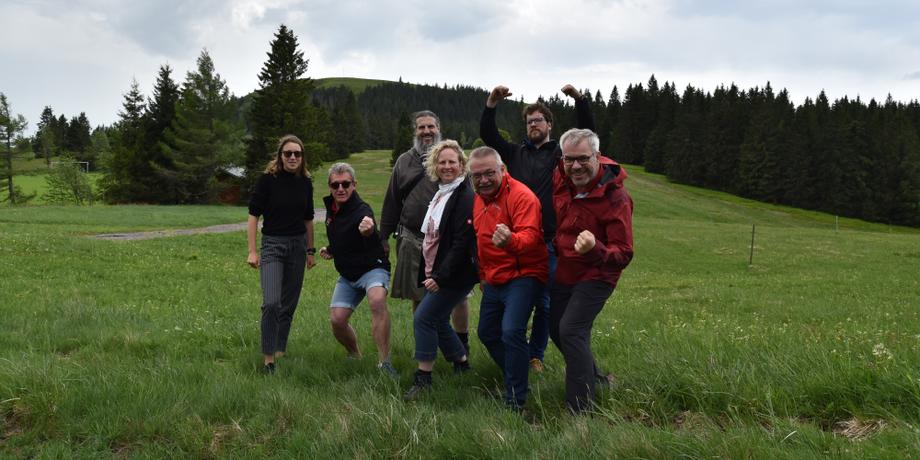 Gruppe auf dem Herzogenhorn im Schwarzwald